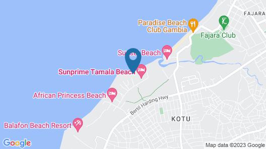 Kalimba Beach Resort Map
