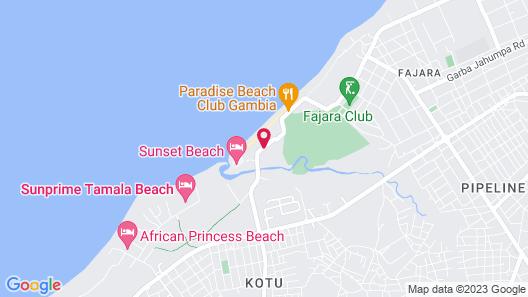 Kombo Beach Hotel Map