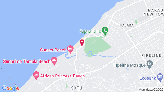 Bungalow Beach Hotel Map