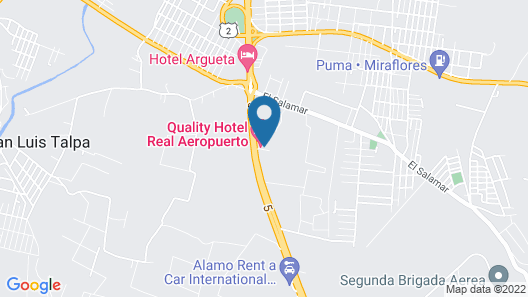 Quality Hotel Real Aeropuerto Map