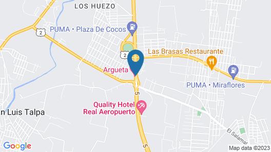 Hotel Rancho Argueta Map