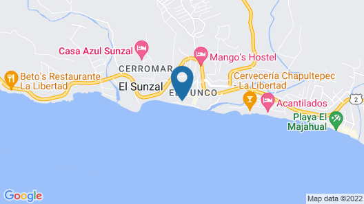 Hotel Roca Sunzal Map