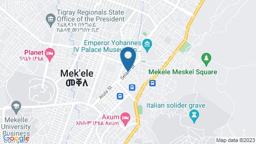 Atse Yohannes Hotel Map