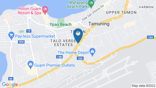 Guam Airport Hotel Map