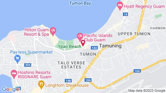 Pacific Islands Club Guam Map