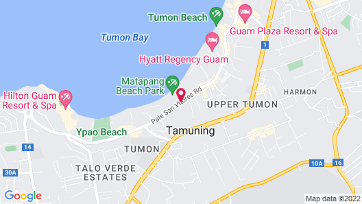Crowne Plaza Resort Guam Map