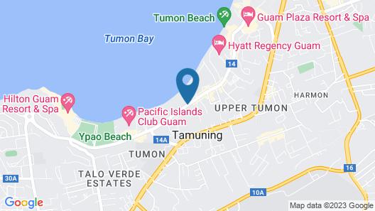 Holiday Resort & Spa Guam Map