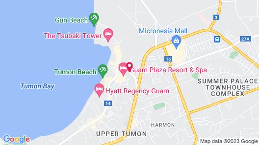 Bayview Hotel Guam Map