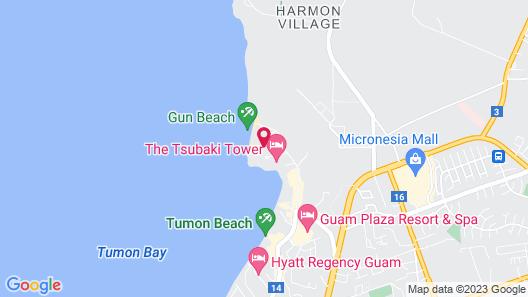 Hotel Nikko Guam Map