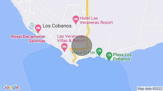 Las Veraneras Cottage Map