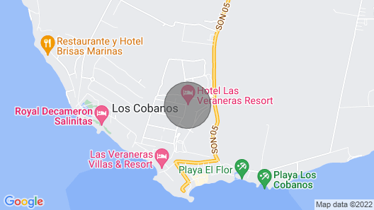 Villa Aracely is Located in a Private Beach Resort not a Front Beach House Map