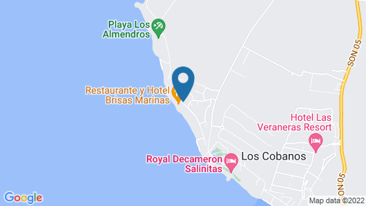 Hotel Brisas Marinas Map