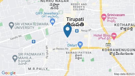 Hotel Harsha Residency Map