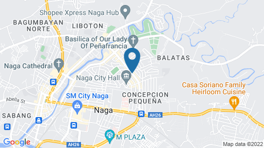 Villa Caceres Hotel Map