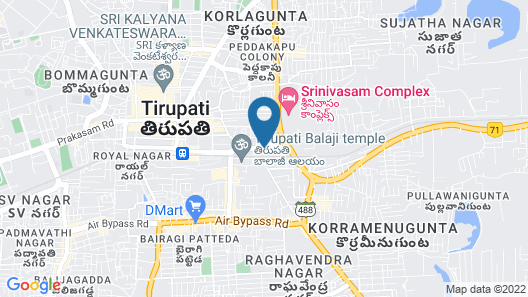Kences, Tirupati Map