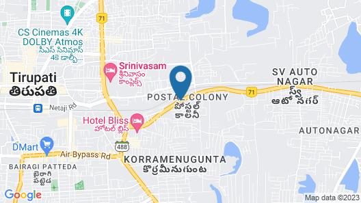 Best Western Tirupati Map