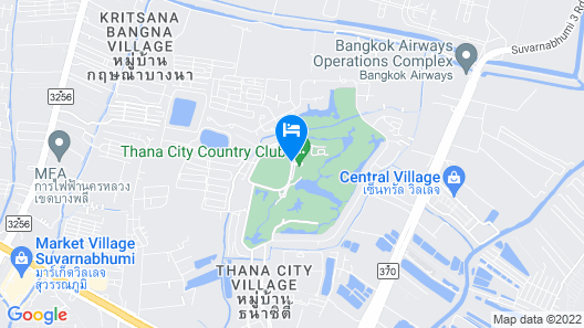 Eastin Thana City Golf Resort Bangkok Map