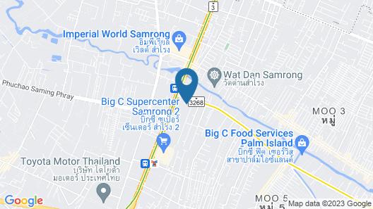 Napa Hostel Samrong Station Map