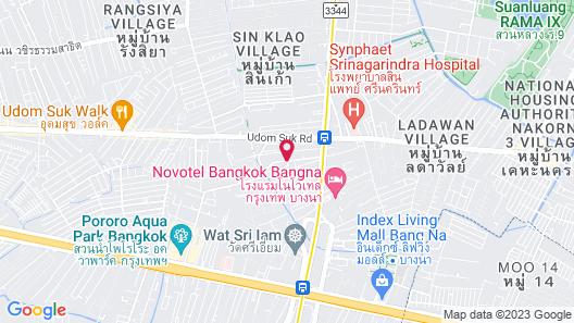 Romance Hotel Srinakarin Map