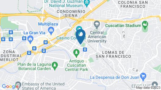 Árbol de Fuego Eco-Hotel Map