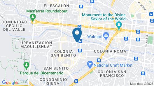 Hostal San Benito - Zona Rosa Map