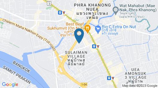 Hide Bangkok Hostel Map