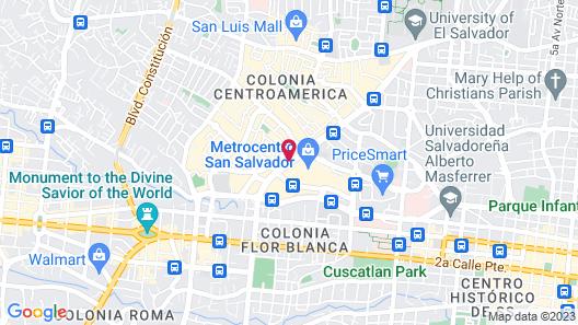 Real InterContinental San Salvador at Metrocentro Mall Map
