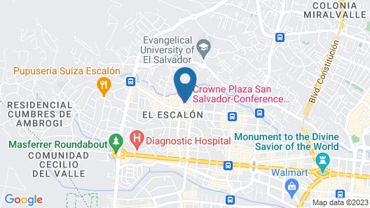 Crowne Plaza Hotel San Salvador Map