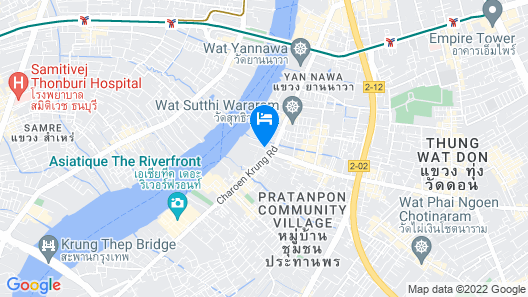 Chatrium Hotel Riverside Bangkok Map