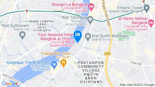 Four Seasons Hotel Bangkok at Chao Phraya River Map