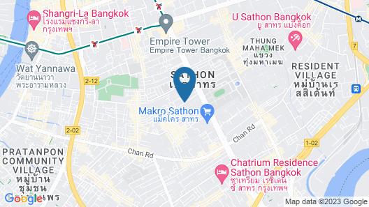Sathorn Bangkok Hotel Map