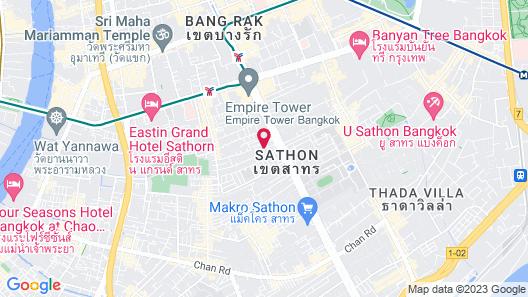 JC Kevin Sathorn Bangkok Hotel Map