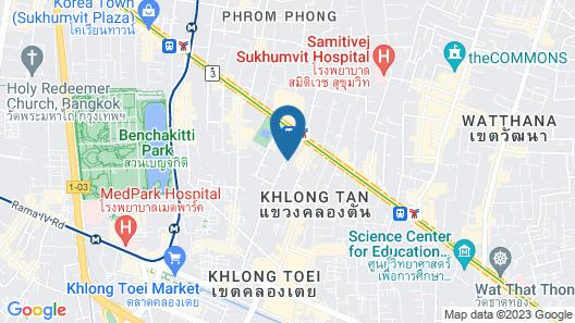 Oakwood Suites Bangkok Map