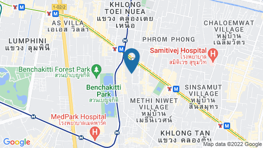 Maitria Hotel Sukhumvit 18 Bangkok- A Chatrium Collection Map