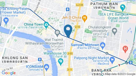 @ Hua Lamphong Hotel Map