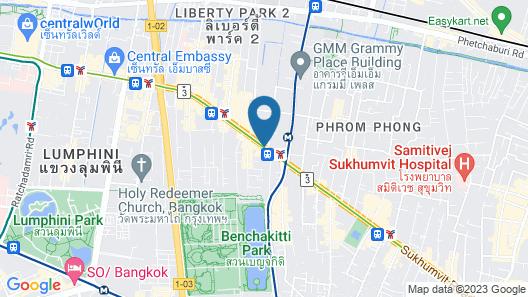 Sheraton Grande Sukhumvit, Luxury Collection Hotel, Bangkok Map