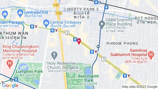 Adelphi Suites Bangkok Map