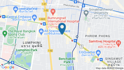 Adelphi Suites Bangkok Map