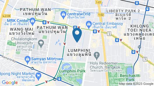 Urbana Langsuan Bangkok, Thailand Map