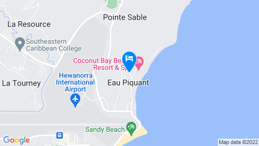 Serenity At Coconut Bay-All Inclusive-Adults Only Map