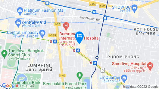Ambassador Bangkok Hotel Map