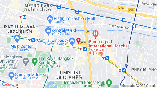 Sivatel Bangkok Map