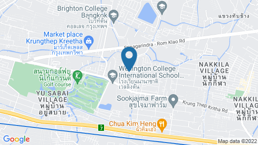 3brs 5 Bathrms With Private Pool in Bkk, 3 km to Metro ,9 km to BKK Airport Map