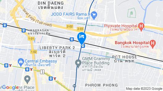 FX Hotel Metrolink Makkasan Map