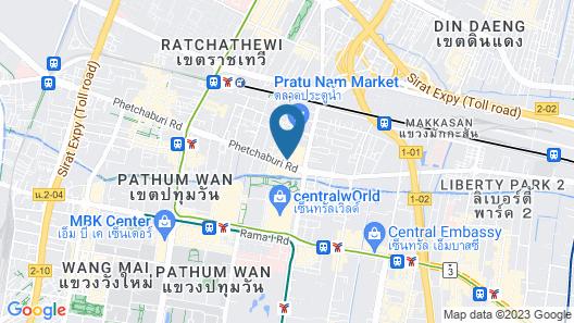 De Centro Bangkok Hotel Map