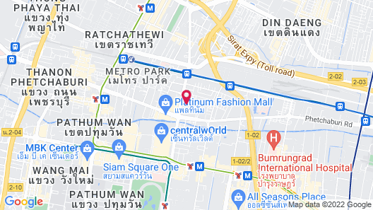 Centara Watergate Pavillion Hotel Bangkok Map