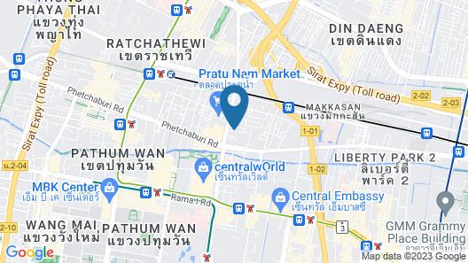Centara Watergate Pavillion Hotel Bangkok Map