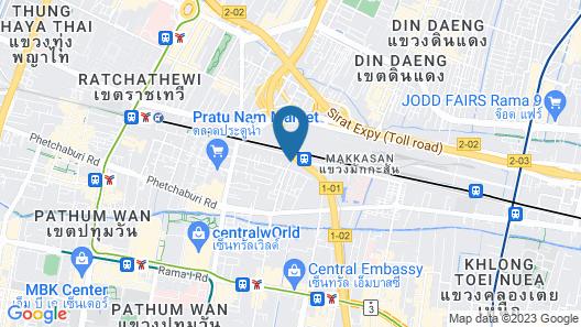 Eastin Hotel Makkasan Bangkok Map