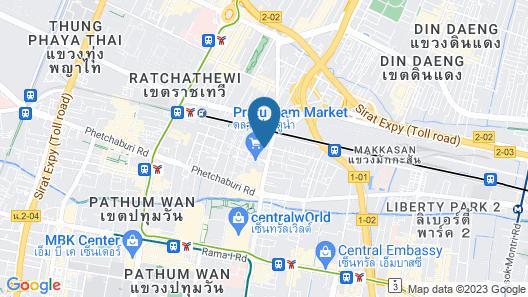 Indra Regent Hotel Map