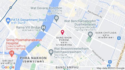 Phranakorn-Nornlen Hotel Map